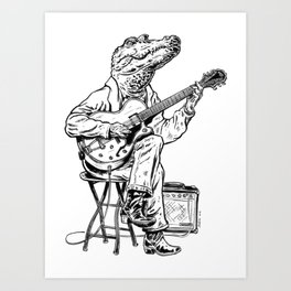 Croco Blues Art Print