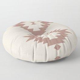 Southwestern Minimalism - Dark Rose Floor Pillow