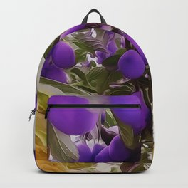 Autumn Harvest Days Plums Backpack