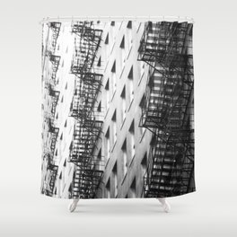 Chicago fire escapes Shower Curtain