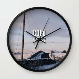 Cold Valley Wall Clock
