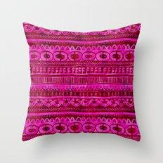 Noni-Red Throw Pillow