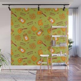 Organic Honey Pattern Wall Mural