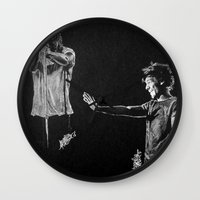 larry Wall Clocks featuring Larry by Drawpassionn