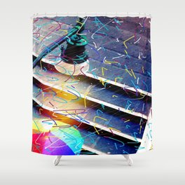 Fiorucci Rain Shower Curtain