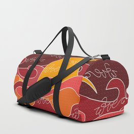 Waves V red colors V Duffle Bags Duffle Bag