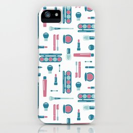 Cosmetic Items Repeating Pattern iPhone Case