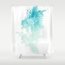 """Wanderlust"" Shower Curtain"