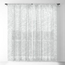 Aesthetic Floral Pattern Sheer Curtain