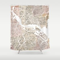 amsterdam Shower Curtains featuring Amsterdam by Mapsland