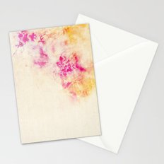 girly pink orange galaxy Stationery Cards