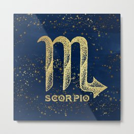 Scorpio Zodiac Sign Metal Print