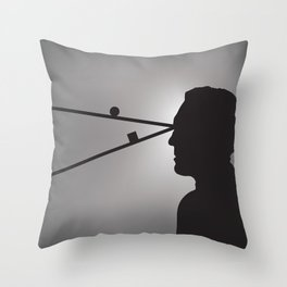 The Prisoner is Being Tested Throw Pillow
