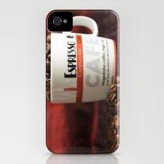 Espresso Cappuccino Coffee Beans Slim Case iPhone (4, 4s)