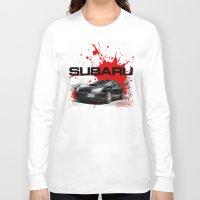 subaru Long Sleeve T-shirts featuring Cars: Subaru WRX STI by Urbex :: Siam