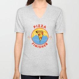 Pizza Marathon Finisher Unisex V-Neck