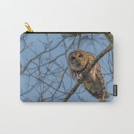 End of day Barred Owl Carry-All Pouch