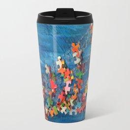 A Puzzling Wave Travel Mug