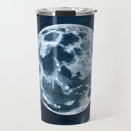 Full Moon Mixed Media Painting Travel Mug