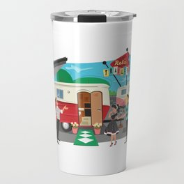 Relic 1 Vintage Travel Trailers, Caravans, Campers and Glamping Art Travel Mug