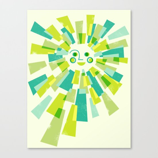 Modern Sunburst Canvas Print