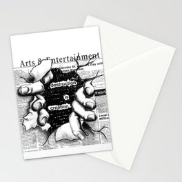 creative distruction Stationery Cards