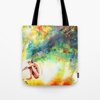 fishing Tote Bags featuring FISHING by danyDINIZ
