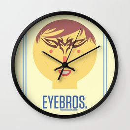 Eyebros. Wall Clock