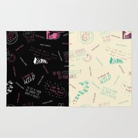 tegan and sara Area & Throw Rugs featuring Doodlethrob (Tegan and Sara) two tone by MR Kent