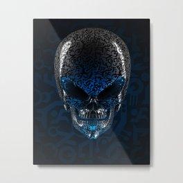 Alien Skull Metal Print