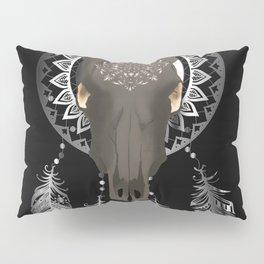 Buffalo skull dream catcher Pillow Sham