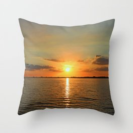 A Moody River Throw Pillow