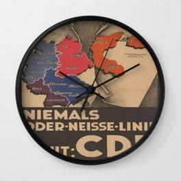Vintage poster - Oder-Neisse Line Wall Clock