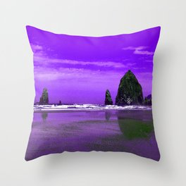 Oregon Coast Abstract Throw Pillow