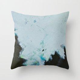 Skyline: Acrylic semi-abstract landscape, trees against the sky. Throw Pillow