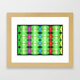 Softly plastic pattern Framed Art Print