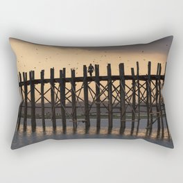 U Bein Bridge, Amarapura, Burma Rectangular Pillow