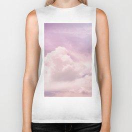 Purple clouds Biker Tank