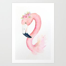 Sweet Flamingo Art Print