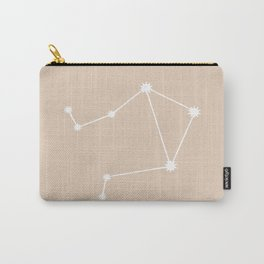 Libra Zodiac Constellation - Warm Neutral Carry-All Pouch