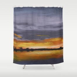 Smith's Point Sunrise Shower Curtain