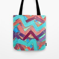 alisa burke Tote Bags featuring Summer Paths No. 1 Original by Ann Marie Coolick