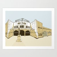 Pittsburgh Baseball Art Print