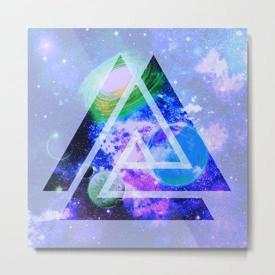 The purple space Metal Print