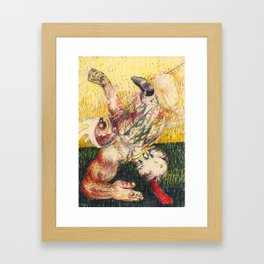 Funny lil' Clown Framed Art Print