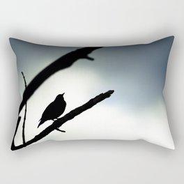 Silhouetted Singer Rectangular Pillow