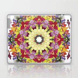 Abundantly colorful orchid mandala 1 Laptop & iPad Skin