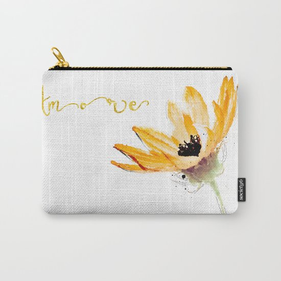 Flower Amore Carry-All Pouch