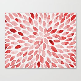 Watercolor brush strokes - red Canvas Print