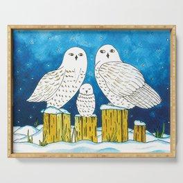 Noah's Ark - Snowy Owl Serving Tray